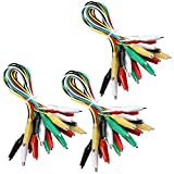 Elegoo 30pcs Alligator Clip Wire Test Leads Set con Pinzas de Cocodrilo Cable de Puente de Doble Final de 50cm