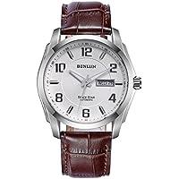 binlu Giacca Impermeabile meccanico orologio con GIORNO E date-brown