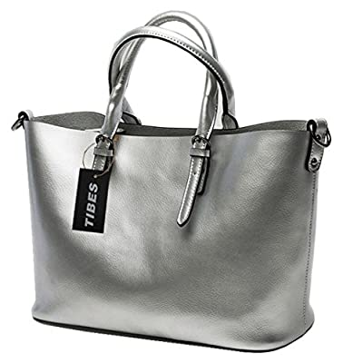 Tibes cuir véritable Grand Vacation Purse Tote Lady sac à main