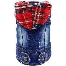 391c469cb2 SILD - Abbigliamento per Cani di Taglia Piccola e Media, Giacca di Jeans,  Blu