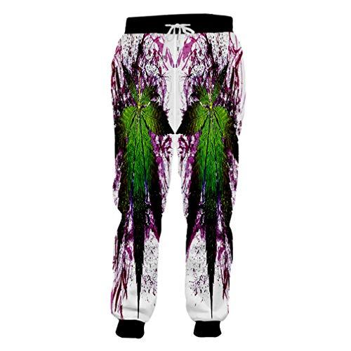 Männliche Sweatpants elastische Taille Gyms 3D gedruckt American Flag Hip Hop Kleidungsstück männlich Winterping 02423 XL (Rock Star Kostüm Männliche)