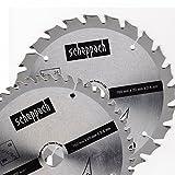 Scheppach Kreissägeblatt Set Holz HW 160 x 2,4 x 20 mm mit 24 und 48 Zähne