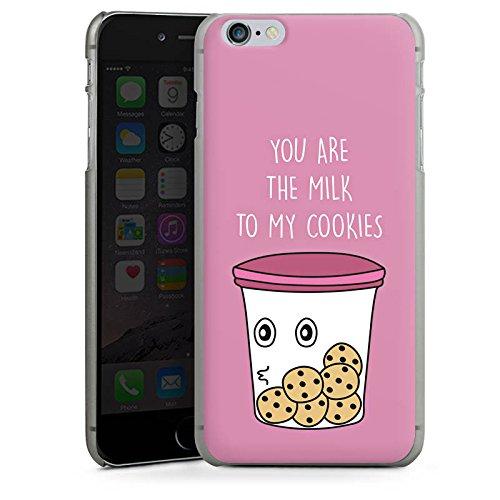 Apple iPhone X Silikon Hülle Case Schutzhülle Sprüche Cookies Statement Hard Case anthrazit-klar