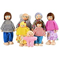 Smibie Kids Girls Doll Toys Doll House Set Happy Family