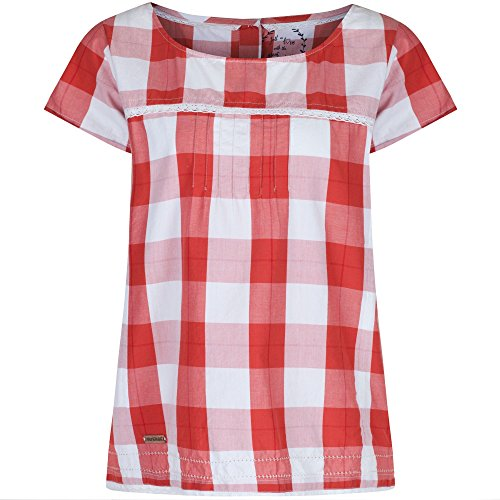 Regatta Womens/Ladies Feronia Coolweave Cotton Airy Voile Top Coral Gingham