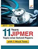 #8: 11 year JIPMER Topic-wise Solved Papers (2017-2007) with 5 Mock Tests