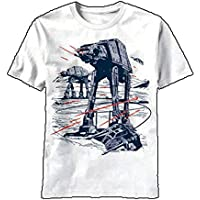 Men's Star Wars Trip Wire AT-AT White T-Shirt X-Large