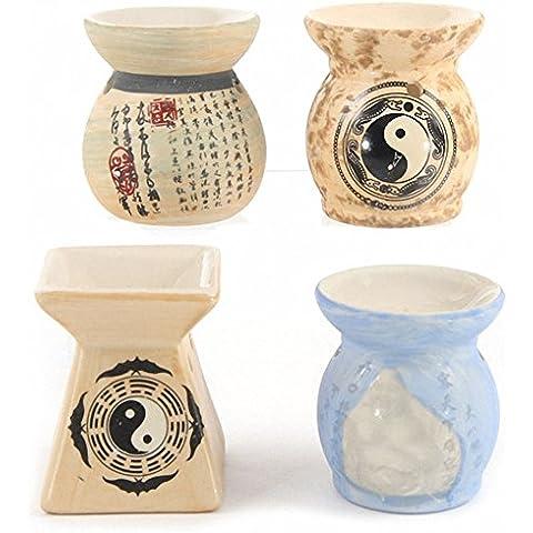 Decorativo chino diseño pequeño de cerámica quemador de aceite