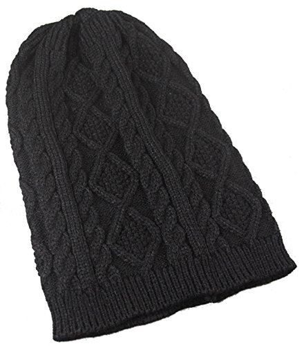 Frau Herbst-Winter-Hut-warmer Hut Modisch gestrickter Hut,Schwarz (Rosa Pailletten Cowgirl Hut)