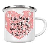 artboxONE Emaille Tasse Ich Hab Dich Lieb von AB1 Edition - Emaille Becher Liebe