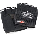 Knighthood Motorcycle Half Hand Grip Gloves (Black, L)