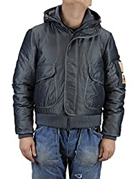 Kejo Sly Goose Down Jacket with Hood Silver, Blue and Beige