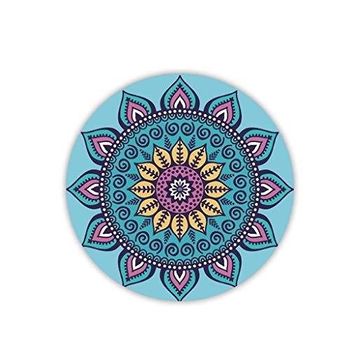 BAIF Estera Redonda para Yoga, Almohadilla de meditación, Goma Natural,...