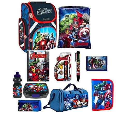 2e87b2da588cc AVENGERS Hulk Thor XL 15 Teile SCHULRANZEN RANZEN FEDERMAPPE RUCKSACK mit  Sticker von Kids4shop TASCHE SET Schultüte 85 cm Captain America