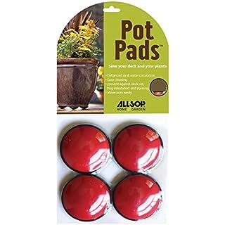 Allsop Home & Garden Pot Pads 4/Pkg-Cherry