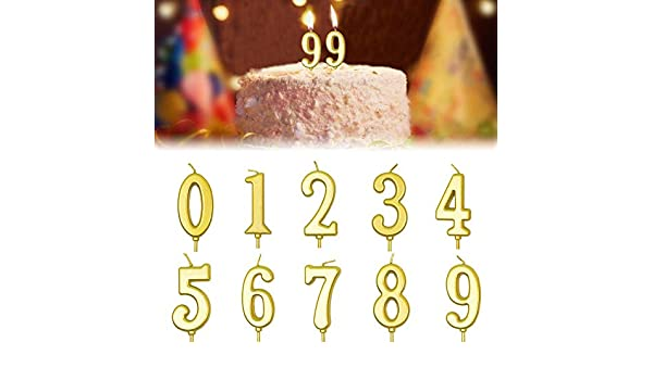Magnificent Biteatey 10 Pieces Birthday Cake Candle 0 9 Number Candles Non Funny Birthday Cards Online Barepcheapnameinfo