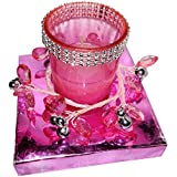 Neet's Creations Pink Fancy Tealight Candle Holder For Home Décor/Diwali