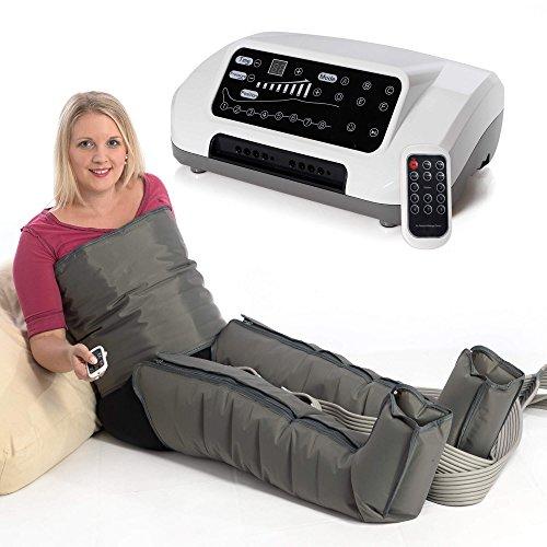 VENEN ENGEL® 8 PREMIUM Massage-Gerät für Bauch & Beine :: 8 Luftpolster je Bein & 6 Programme für intensive Druckwellen-Massage :: inkl. Fernbedienung, Top-Kundenservice & Qualität