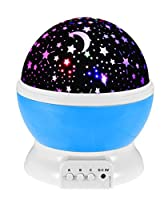 Baby Night Light Moon Star Projector 360 Degree Rotation,Romantic Starry Night Light Lamp Projection for Women Children Kids Bedroom Decor from JINGOU