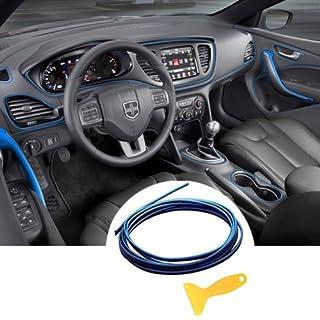 Auto Innenraum Zubehör / Interior Dcoration,Auto Zierleiste,YY-LC Einfacher Push-In Entfernbar 3D DIY Auto-Anreden,Für Universal-Autozubehör,196 Zoll / 5M,Blau