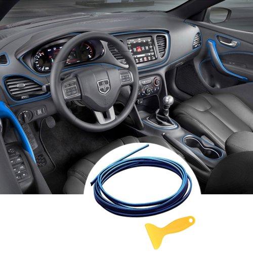 Auto Innenraum Zubehör / Interior Dcoration,Auto Zierleiste,YY-LC Einfacher Push-In Entfernbar 3D DIY Auto-Anreden,Für Universal-Autozubehör,196 Zoll / 5M,Blau (Abnehmbare Auto-aufkleber)