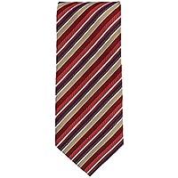 Silk classico cravatta seta classico rosso oro blu strisce 9 (Oro A Strisce Cravatta)