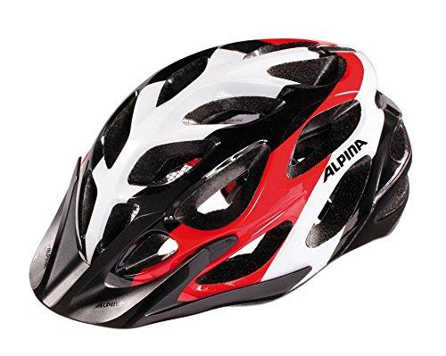 Fahrradhelm Alpina Mythos 2.0 MTB, schwarz/weiß/rot Gr.57-62cm