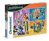 Clementoni 25213 - Puzzle Zootropolis, 3x48 Pezzi