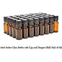 40er-PACKUNG - 10ml BRAUNGLAS-Flaschen mit Schwarzen Sicherheitsverschlusskappen & Dosier-Tropfern. Ätherisches... preisvergleich bei billige-tabletten.eu