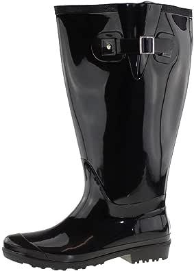 Wide Wellies Bottes en Caoutchouc Noir Mollet Taille 4 X W5