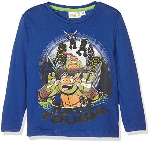Nickelodeon Jungen T-Shirt Mutant Ninja Turtles Blau-Blue (Touareg), 4 Jahre (Blue Turtle Ninja)