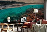 Vlies Fototapete Fotomural - Wandbild - Tapete - Korallenriffe Fische Unterseeisch Oberfläche - Thema Tropical und Inseln - MUSTER - 104cm x 70.5cm (BxH) - 1 Teilig - Gedrückt auf 130gsm Vlies - 1X-235711VEM