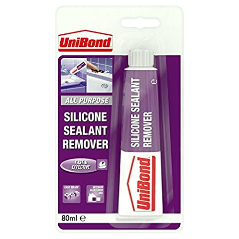 UniBond Silicone Sealant Remover / Ideal for removing old or unwated sealant from ceramic tiles, most plastics, glass and painted surfaces / 1 x 80ml