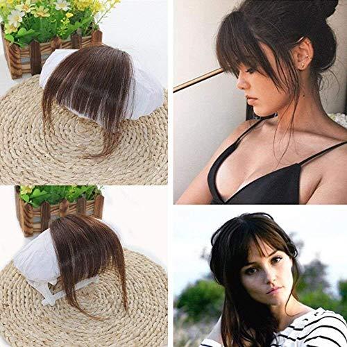 lip in Haare Extensions 2# Dunkelbraun ein Stuck Glatt Air Franse Accessoires mit Haar-Tempel ()