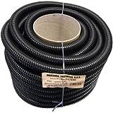 Tricoflex Tuyau d'arrosage Étang Lumière Tube intérieur en PVC Noir 32mm 30m, noir