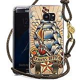 DeinDesign Samsung Galaxy S7 Edge Carry Case Hülle zum Umhängen Handyhülle mit Kette Schiff Anker Anchor