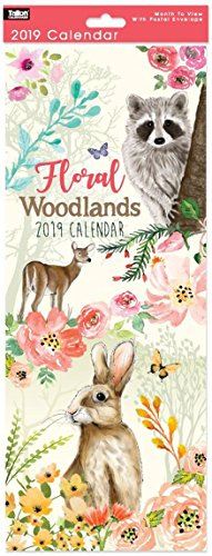2017calendario da muro a spirale mese a vista super slim–Woodland amici animali