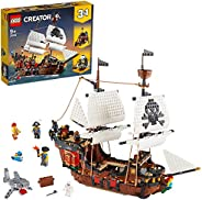 LEGO Creator Pirate Ship 31109 Toy for Boys and Girls 9+ years old, 3in1 building set with 3 minifigures (1264