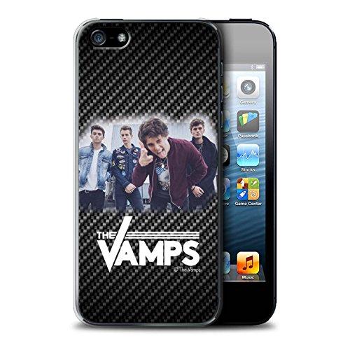 Offiziell The Vamps Hülle / Case für Apple iPhone 5/5S / Pack 6pcs Muster / The Vamps Fotoshoot Kollektion Kohlenstoff