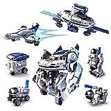 Space Roboter Bausatz 7 in 1 Robot Kit Spielzeug für Kinder ab 10 Jahren Robotik DIY Baukasten zum Zusammenbauen u Experimentieren Photovoltaik Weltraum-Flotte Toy für Jungen u Mädchen solarbetrieben