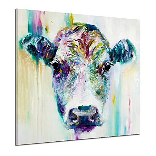 L Multicolor 11301 Kühe Kopf-Muster-Ausgangsdekoration Printed Wand-Deko Bilder Leinwand-Malerei Für Hauptdecaration -