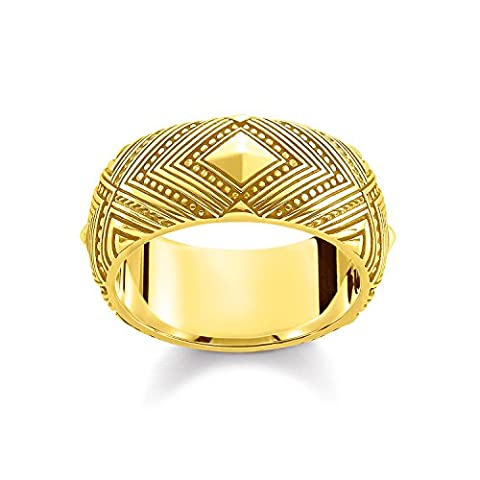 Thomas Sabo Women ring TR2127-413-39 925 Sterling Silver; 18k Yellow Gold Plating Yellow Gold-coloured