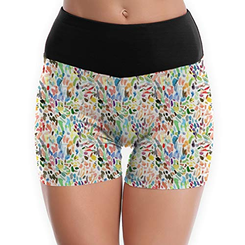 cleaer Test Strokes Girl Yoga Running Pant High Waist Smooth Tummy Control Workout Polyester Large