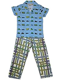 Paper Rockets Boys Race Cars Night Suit (Race Cars Night Suit (7-8)_Multicolor_7-8 Years)