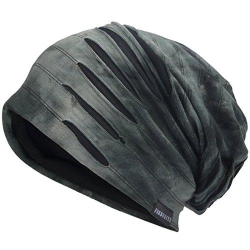 VECRY Herren Jersey Slouch Mütze Sommer Skullcap (A-Grau, Dünn Cool)