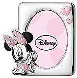 Disney Baby - Minnie Mouse - Cornice Porta Foto da Tavolo in Argento per Neonato e Bambina
