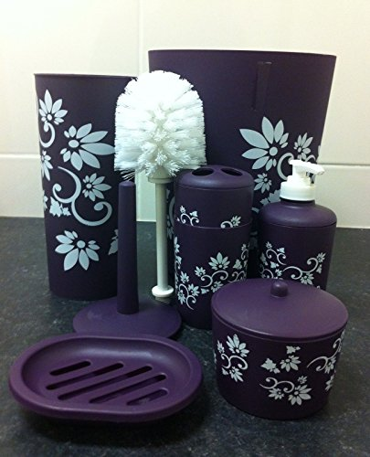 purple bathroom accessories amazoncouk