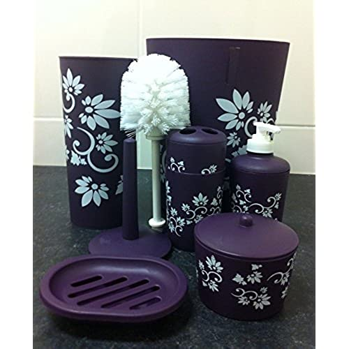 purple bathroom accessories amazoncouk - Purple Bathroom Accessories Uk