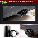 Nuova pezzi in acciaio INOX auto tubo di scappamento silenziatore di scarico coda del tubo punta raccordi per tubi di fine Black color Custom Fit
