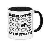Tasse BLACK SHEEP - BOLONKA ZWETNA - Hunde Fun Schaf Kaffebecher Siviwonder